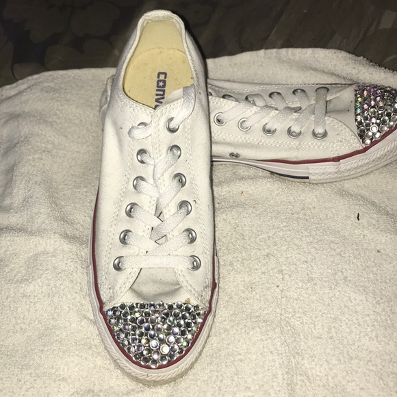 1d8aeac2cb3e Converse Shoes - Converse all star white with Bling toe